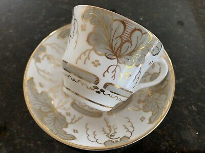Antique Rococo English Teacup and Saucer Coalport?