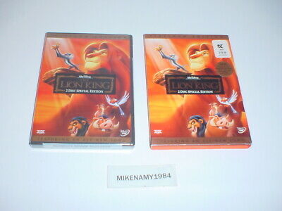 New Walt Disney's THE LION KING: 2-Disc PLATINUM EDITION on DVD - Factory Sealed