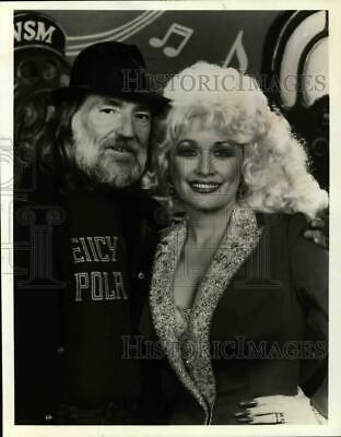 1986 Press Photo Country Music Singers, Willie Nelson and Dolly Parton