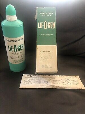 Vintage Life-O-Gen Oxygen Inhalant Unused With Origional Box