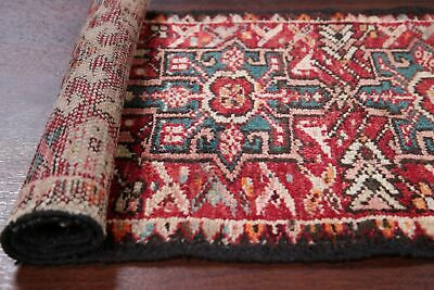 Antique TRIBAL Gharajeh Runner Rug Oriental Geometric Wool 2' x 5'