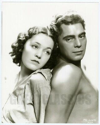 Johnny Weissmuller Maureen O'sullivan Tarzan Ape Man 1932 Oversize Photo Hurrell