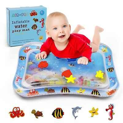 Safety Baby Water Play Mat Inflatable For Infants Toddlers Fun Tummy time Study