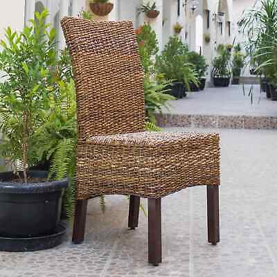 International Caravan Arizona Abaca Mahogany Dining Chair (Set of 2)