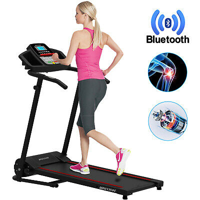 Electric  Folding Bluetooth Treadmill Running Machine with 2 Bottle Holders