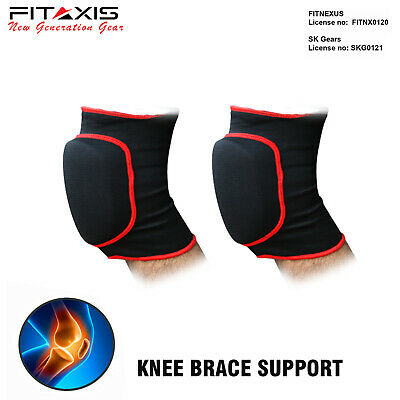 FITAXIS Leg Elastic Foam Padded Knee Brace Protector Wrap Support MMA Boxing NEW
