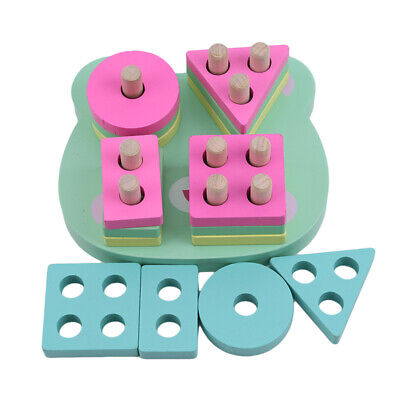 Bear Baby Blocks Shape Sorter Toys Puzzle Building Blocks Geometry Puzzle CB