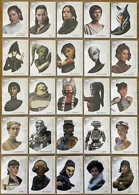 """Topps 2019 On Demand """"Women of Star Wars"""" 25 Card Trading Card Base Set"""