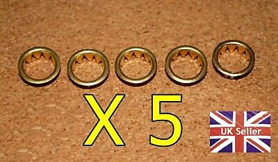 5 BRASS CLOCK FACE / KEYHOLE  GROMMETS FOR 10mm HOLE. FREE POSTAGE. BARGAIN @@@@