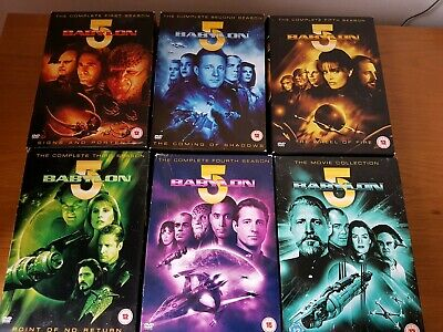 Babylon 5 The Complete Seasons 1-5 DVD Box Sets plus Movie collection - USED