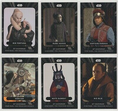 Star Wars On Demand Phantom Menace LOT of 6 Grey Parallel Cards 4 exist of each!
