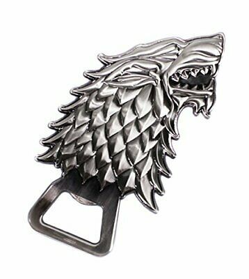 Game Of Thrones Bottle Opener Stark - Antique Silver Style - Stunning Wolf