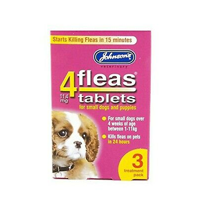 Johnsons 4Fleas Tablets Puppies & Small Dogs 3 Treatment Pack