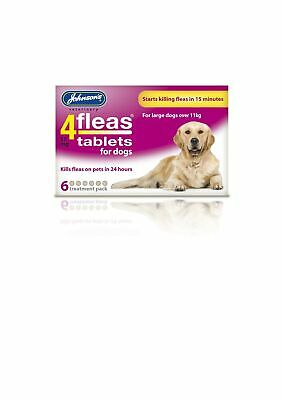 Johnsons Veterinary Products 4Fleas Dog Tablets, Large, 57 mg, 6 Tablets