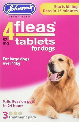 Johnsons Veterinary Products 19-0295 Tablets for Dogs Treatment, Large, Set of 3