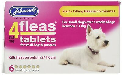 Johnsons Veterinary Products 4Fleas Tablets for Puppies and Small Dogs Treatm...