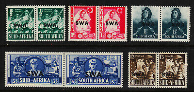 SOUTH WEST AFRICA #135//143 Mint Hinged 1941 South Africa OVERPRINTED SCV $46.25
