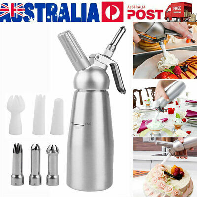500ml Whipped Cream Coffee Dispenser Aluminium Cream Whipper Dessert Tool AU VIC