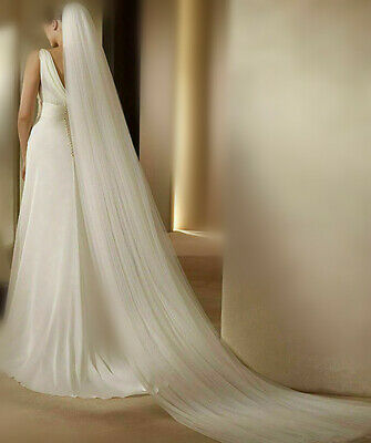 Soft Romantic Wedding VEIL 2-Tier Cathedral chapel Bridal long Veil costom