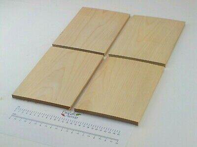 4 Sliver Birch wood boards.  Pyrography, Table place mats. 150 x 9 x 220mm. 2762