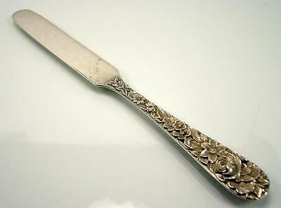 """Kirk & Son Repousse Sterling Silver Blunt Edge Baby Knife / Spreader - 5.5"""""""