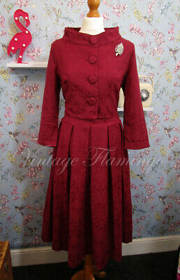 a0035cccc2c4 Lindy Bop Vintage 50s Style Rockabilly Pinup Swing Marianne Dress & Bolero  UK14