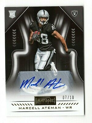 Marcell Ateman Nfl 2018 Panini Playbook Rookie Signatures Gold #/10 (Raiders)