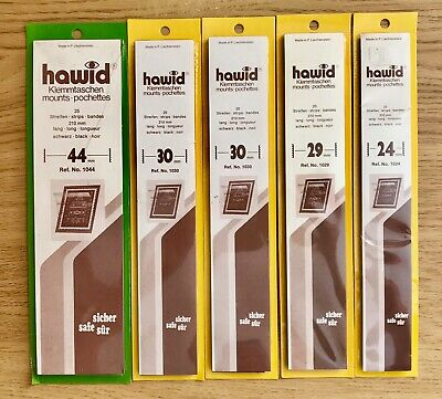 Hawid Mounts 5 Packets (24mm, 29mm, 30mm x 2 & 44mm) Black