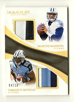 Mariota / Murray Nfl 2017 Immaculate Collection Dual Jerseys Prime #/10 (Titans)