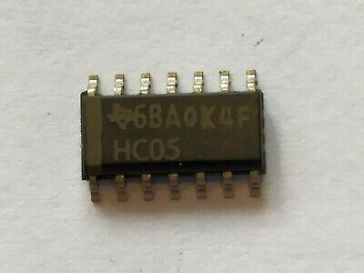 10 x  SN74HC05 smd texas instruments