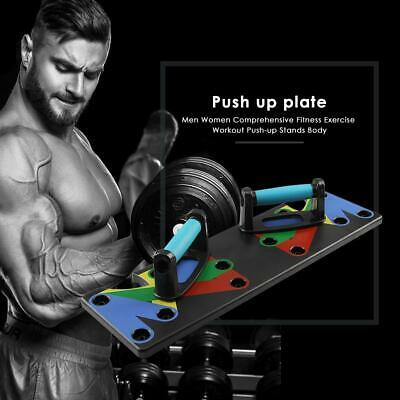 9 in 1 Push Up Rack Board System Fitness Workout Train Gym Exercise Body Stands#