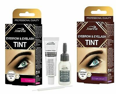 Joanna Eyebrow & Eyelash Tint Kit Black Dark Brown 15ml