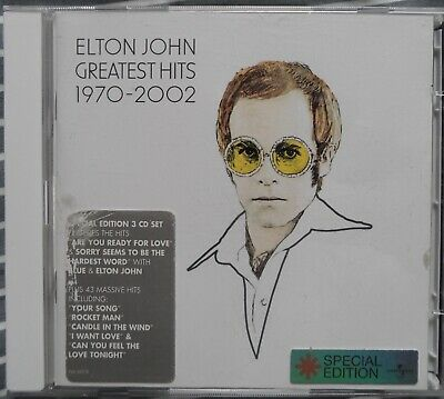 Elton John Triple CD Elton John Greatest Hits 1970-2002