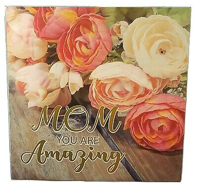 MOM AMAZING PLAQUE - Home Decor MOTHER Tabletop Plaque Sign - Wooden NEW