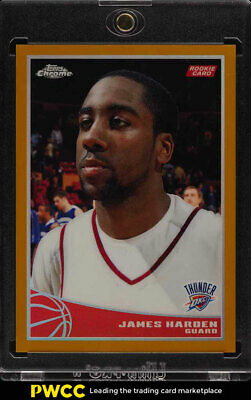 2009 Topps Chrome Gold Refractor James Harden ROOKIE RC JSY # 13/50 #99 (PWCC)
