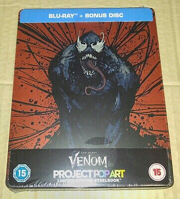 New Marvel Venom Blu-ray + Bonus Disc Steelbook™ Zavvi Exclusive UK