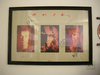 Rush Signals Autographed   Poster - Rare