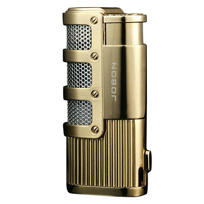 JOBON Premium Triple Jet Flame Refillable Butane Torch Lighter ~ Gold Color