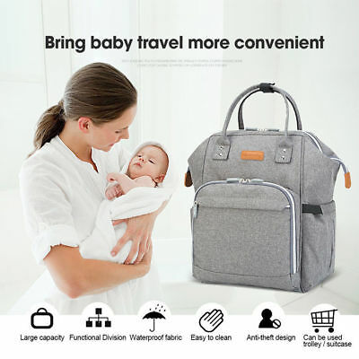 2019 Large Mummy Nappy Diaper Bag Baby Travel Caring Changing Nursing Backpack