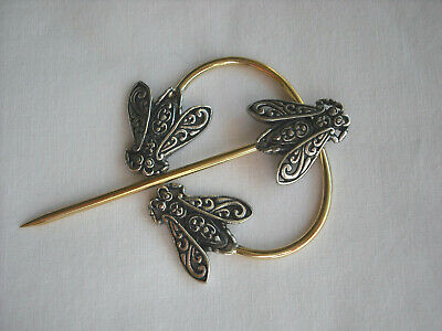 JUL Designs Filigree Honeybee Pennanular Shawl Pin