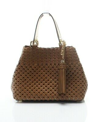 1dbcc8c1c Michael Kors NEW Brown Acorn Brooklyn Small Crossbody Tote Leather Bag  $498-#049