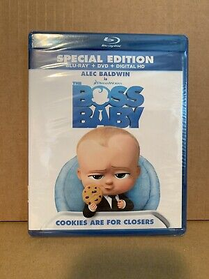 Boss Baby 2017 Blu-Ray DVD Alec Baldwin Brand New Sealed Mint