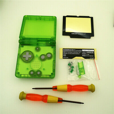 Transparent Clear Green Shell Housing Case For Game Boy Advance SP GBA SP