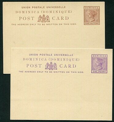 Dominica QV 1879-1886 postal stationery cards x6 different H&G 1-6 unused