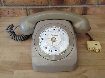 Retro/Vintage Grey Rotary Dial Pmg Telephone, Telephones, Phones, Collectable