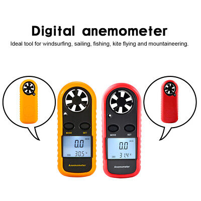 Handheld Digital LCD Air Wind Speed Anemometer Temperature Gauge Meter Tester