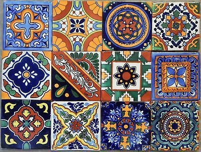 "40 Mexican Talavera Tiles Hand Painted 6""x6"" Stairs Backsplash"