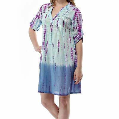 ea4ead68e3 FRESH PRODUCE 1X Peri Blue BRIGHT BOTANICAL Jersey SADIE Dress NWT ...