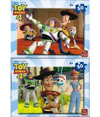 TOY STORY 4 Jigsaws 50 Piece puzzles Buzz, Woody, Jesse,Forky & Beau Peep 4yo+