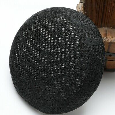 Vintage Woman Lace Millinery Hats Fascinator Base Hair Supply Black